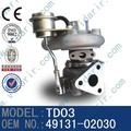 Diesel kubuta v2003t 49131-02030 turbocompresor