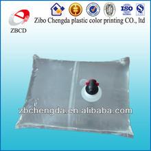 transparent PE plastic packaging bag in box with valve\liquid packaging bags in box with spout