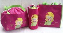 lunch bag, tote bag, cover bottle