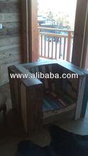 Old wood living room sofa