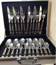 STAINLESS STEEL CUTLERY 72/84 PCS/SET WITH ALUMINUM CASE