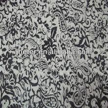 100%nylon non-stretch jacquard fabric led ottoman