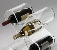 acrylic/plastic wine bottle display stand