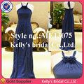 New design strapless halter a-line ruched vestido longo chiffon dama de honra vestido adulto