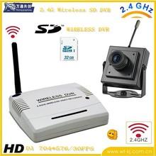 2.4G Stand-alone Wireless dvr Kit + 1pcs pinhole wireless camera