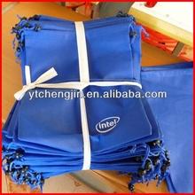 blue bulk non woven t shirt bags with zipper/non woven t-shirt bag