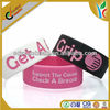 2014 customized wrist bands silicone rubber