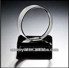 2014 newest design crystal hockey award with custom engraving