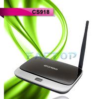 HDMI RJ45 Android 4.2 Google Cs918 Rk3188 Quad Core Cortex A9 Google Android Tv Box Wireless Bluetooth Usb Rj45