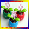 plastic solar powered dancing flower for car decoration