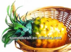Color plastic artificial fruit pineapple for home decoration