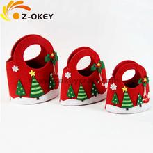 Decorative Christmas red felt bag 2014 Yiwu wholesale