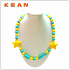 Silicone Chewing Bead Necklace/ Chunky Bead Necklace For Little Girl / FDA Silicone Chew Beads Necklaces