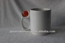sublimation printing mugs with basketball