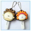 Cute Personalized PVC Rubber Key Head Cover/Sofe PVC Keyring