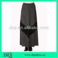 chevron zig zag stirpe maxi largo falda de mujer color gris maxi faldas