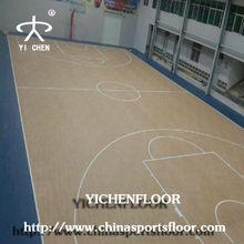 pvc wood floor basketball/vinyl basketball court floor/basketball court foam pvc flooring