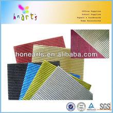 Folding jam take away metallic corrugated paper carrier