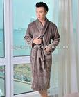 top quality coral fleece comfortable long robe for man