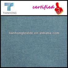 Hilado de algodón 100% teñido Chambray tela / de cambray para camisa / algodón liso de cambray