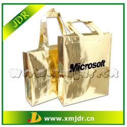 Top Quality Gold Laminated Metallic Non Woven Shopping Bags
