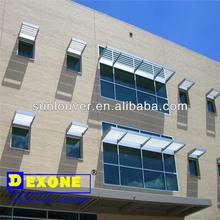 Building exterior aluminum sunshades for window