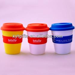 Hot sale cheap plastic coffee mug/travel mug