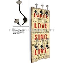 Retro hat hook coat hook wall hanger&Hook wall display&Indoor wood railings
