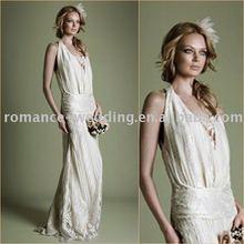 Ar0172 Fantastic V-neck Slim Style Lace Wedding Dress