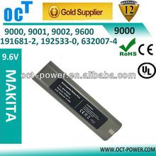 2014 high quality Makita 9000 9.6v Ni-cd 2200mah power tool battery