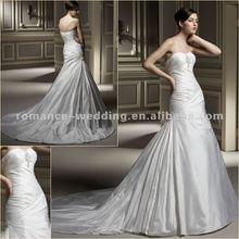 Aj0069 Applique Ruffle Mermaid Style Description Of Wedding Dress