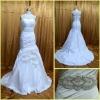 RE0053 Superb Handmade Flowers Real Sample Mermaid Wedding Dresses 2012