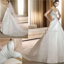 PR0075 Elegant Sweetheart Ruffle Long Tailing Ball Gown Wedding Dress 2013