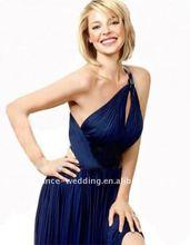 DF0033 Elegant One-shoulder Side Slit Long Chiffon Evening Dress 2012