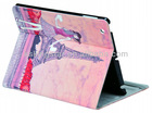 color printing case for ipad air leather