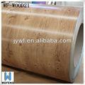 coberturas ppgi bobina de aço de grão de madeira de aço para a porta interior
