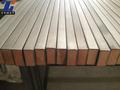 Astm b348 titane, plaquées cuivre prix bar. plat carré