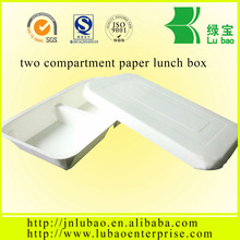 2014 popularity leak proof paper bento box for two portition