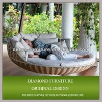 Wicker outdoor swing bed for sale