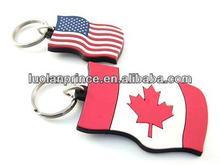 2014 High quality promotion custom pvc reflective keychain