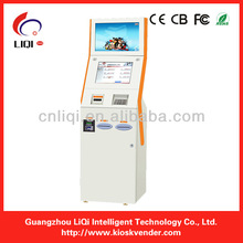 dual screen payment terminals touch kiosk,self-service payment terminals with thermal printer,barcode scanner
