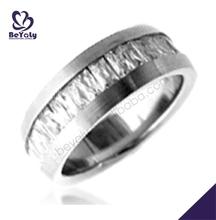 Satin finish smooth men pave set heart diamond ring