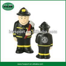 PU stress Fireman toys