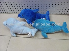 Promotional good quality plush toy dolphin for vending machine