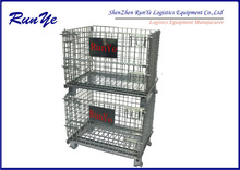 Folding Storage Cage assures the intensity of the hinge/mesh container