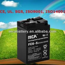 Good Quality Sealed Lead Acid Battery UPS Battery 6V5Ah