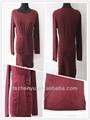 Alta qualidade Knitting vestido de moda feminina longo mangas vestido elegante de inverno de uma peça vestido de festa para senhoras