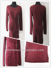 High Quality Knitting Dress Ladies Fashion Long Sleeves Dress Elegant One Piece Winter Party Dress For Ladies