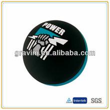 black&blue heat tranfer printing hollow hi bouncing ball