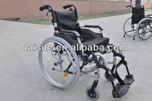 2014 best selling european style 130kg aluminium frame quick release back wheel manual folding wheelchair